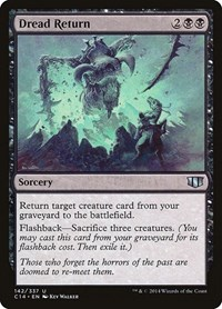 Dread Return, Magic: The Gathering, Commander 2014