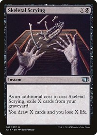 Skeletal Scrying, Magic: The Gathering, Commander 2014