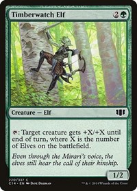 Timberwatch Elf, Magic, Commander 2014