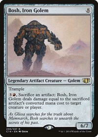 Bosh, Iron Golem, Magic: The Gathering, Commander 2014