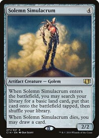 Solemn Simulacrum, Magic: The Gathering, Commander 2014