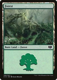 Forest (336), Magic: The Gathering, Commander 2014
