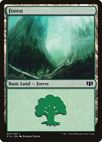 Forest (337), Magic: The Gathering, Commander 2014
