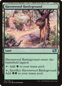Havenwood Battleground, Magic, Commander 2014