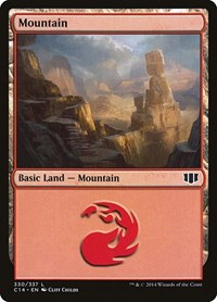 Mountain (330), Magic: The Gathering, Commander 2014
