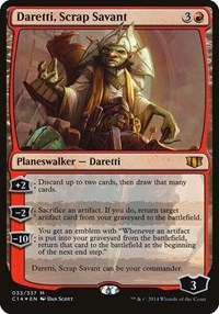 Daretti, Scrap Savant (Commander 2014), Magic: The Gathering, Oversize Cards