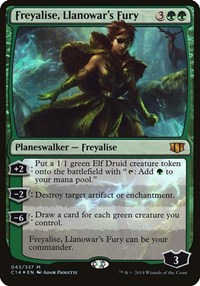 Freyalise, Llanowar's Fury (Commander 2014) (Foil)