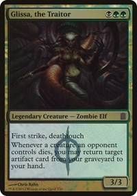 Glissa, the Traitor (Commander's Arsenal), Magic: The Gathering, Oversize Cards