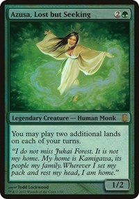 Azusa, Lost but Seeking (Commander's Arsenal), Magic: The Gathering, Oversize Cards