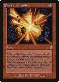 Volley of Boulders, Magic: The Gathering, Odyssey