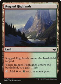 Rugged Highlands, Magic: The Gathering, Fate Reforged