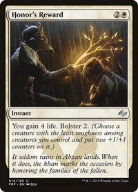 Honor's Reward, Magic: The Gathering, Fate Reforged