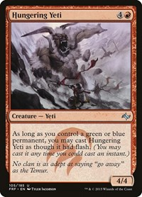 Hungering Yeti, Magic: The Gathering, Fate Reforged