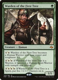 Warden of the First Tree Near Mint Normal English Magic Card Fate Reforged MTG