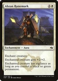 Abzan Runemark, Magic, Fate Reforged