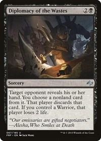 Diplomacy of the Wastes, Magic: The Gathering, Fate Reforged