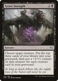 Grave Strength, Magic: The Gathering, Fate Reforged