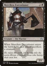 Merciless Executioner, Magic: The Gathering, Fate Reforged