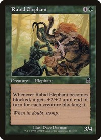 Rabid Elephant, Magic: The Gathering, Odyssey