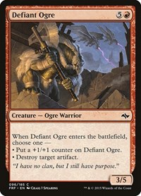 Defiant Ogre, Magic: The Gathering, Fate Reforged