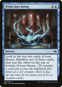 Write into Being, Magic: The Gathering, Fate Reforged