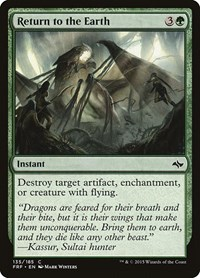 Return to the Earth, Magic: The Gathering, Fate Reforged
