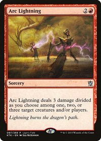 Arc Lightning, Magic, Ugin's Fate Promos