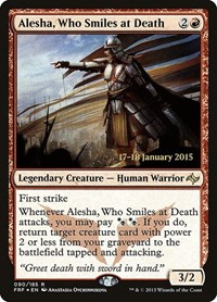 Alesha, Who Smiles at Death, Magic: The Gathering, Prerelease Cards