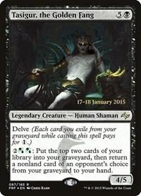 Tasigur, the Golden Fang, Magic, Prerelease Cards