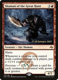 Shaman of the Great Hunt, Magic, Prerelease Cards