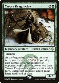 Yasova Dragonclaw, Magic: The Gathering, Prerelease Cards