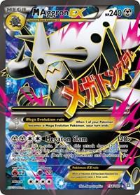 M Aggron EX (154 Full Art), Pokemon, XY - Primal Clash