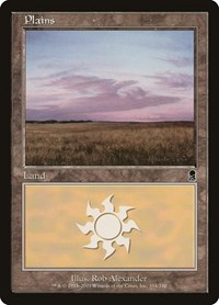 Plains (334), Magic: The Gathering, Odyssey
