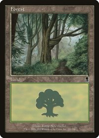 Forest (350), Magic: The Gathering, Odyssey