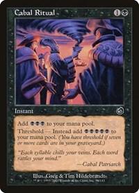 Cabal Ritual, Magic: The Gathering, Torment