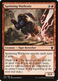 Sprinting Warbrute, Magic: The Gathering, Dragons of Tarkir