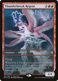 Thunderbreak Regent, Magic: The Gathering, Game Day & Store Championship Promos