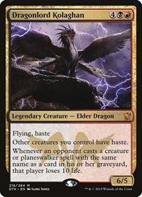 Dragonlord Kolaghan, Magic: The Gathering, Dragons of Tarkir