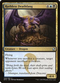 Ruthless Deathfang, Magic, Dragons of Tarkir
