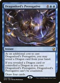 Dragonlord's Prerogative, Magic: The Gathering, Dragons of Tarkir