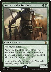 Avatar of the Resolute, Magic: The Gathering, Dragons of Tarkir