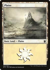 Plains (252), Magic: The Gathering, Dragons of Tarkir