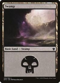 Swamp (256), Magic: The Gathering, Dragons of Tarkir