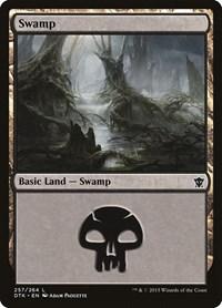 Swamp (257), Magic: The Gathering, Dragons of Tarkir