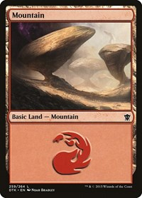 Mountain (259), Magic: The Gathering, Dragons of Tarkir