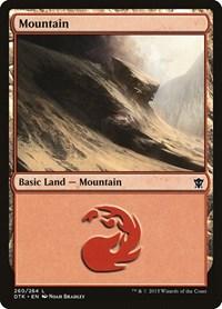 Mountain (260), Magic: The Gathering, Dragons of Tarkir