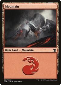 Mountain (261), Magic: The Gathering, Dragons of Tarkir