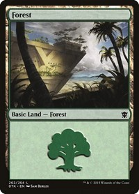 Forest (262), Magic: The Gathering, Dragons of Tarkir