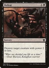 Defeat, Magic: The Gathering, Dragons of Tarkir