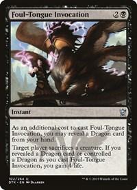 Foul-Tongue Invocation, Magic: The Gathering, Dragons of Tarkir